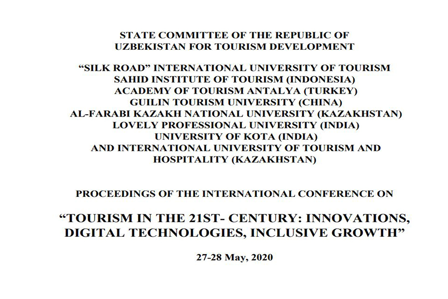 """TOURISM IN THE 21ST- CENTURY: INNOVATIONS, DIGITAL TECHNOLOGIES, INCLUSIVE GROWTH"""